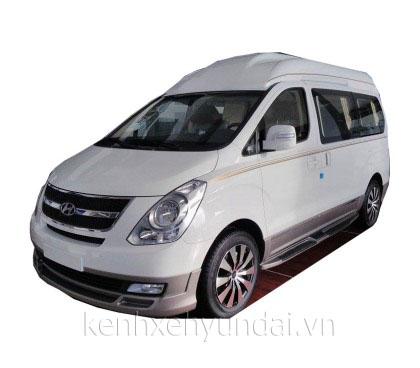 hyundai starex limousine mau trang
