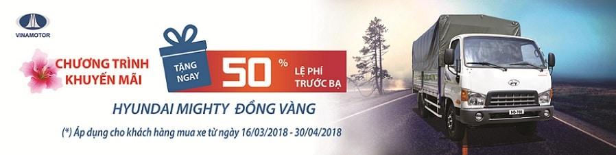 khuyen mai thue truoc ba xe tai hd700 dong vang 2018