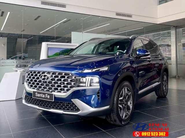 Hyundai Santafe màu xanh dương