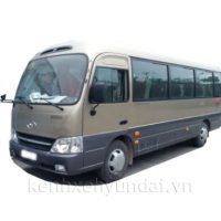 Xe khách 29 chỗ Hyundai County Thân Dài Đồng Vàng Màu Thúy An Vàng Xám