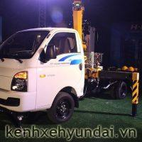 Xe tải Hyundai Porter H100 lắp cần cẩu chuyên dụng