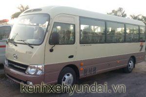 Giới thiệu xe khách 29 chỗ Hyundai County Đồng Vàng Ghế châu âu