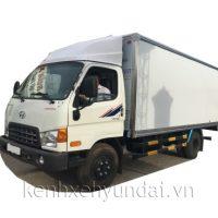 Xe tải Hyundai HD700 Đồng Vàng thùng kín bảo ôn 6,5 tấn