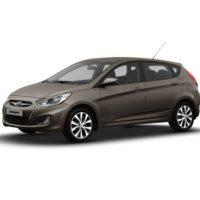 Hyundai Accent 5 Cửa Màu Nâu