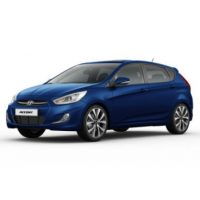 Hyundai Accent 5 Cửa Màu Xanh