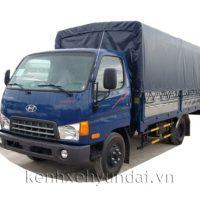 Xe tải Hyundai HD600 Đồng Vàng 5,5Tấn Thùng mui bạt