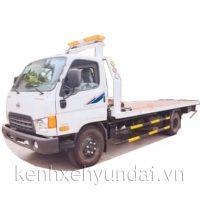Xe tải Hyundai HD800 Veam 8 tấn cứu hộ giao thông sàn trượt, xe kéo chở xe