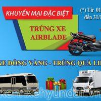 Mua xe Đồng Vàng trúng thưởng xe máy Honda Airblade