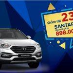 Hyundai Santafe khuyến mãi lên tới 230 triệu đồng
