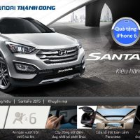 Mua Hyundai SantaFe 2015 nhận ngay iPhone 6